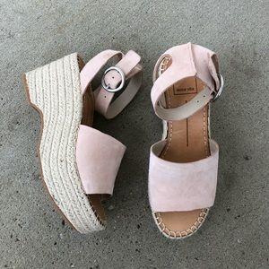 NWOT dolce vita platform wedge leather sandals
